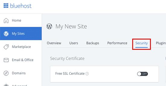 تفعيل شهادة SSL